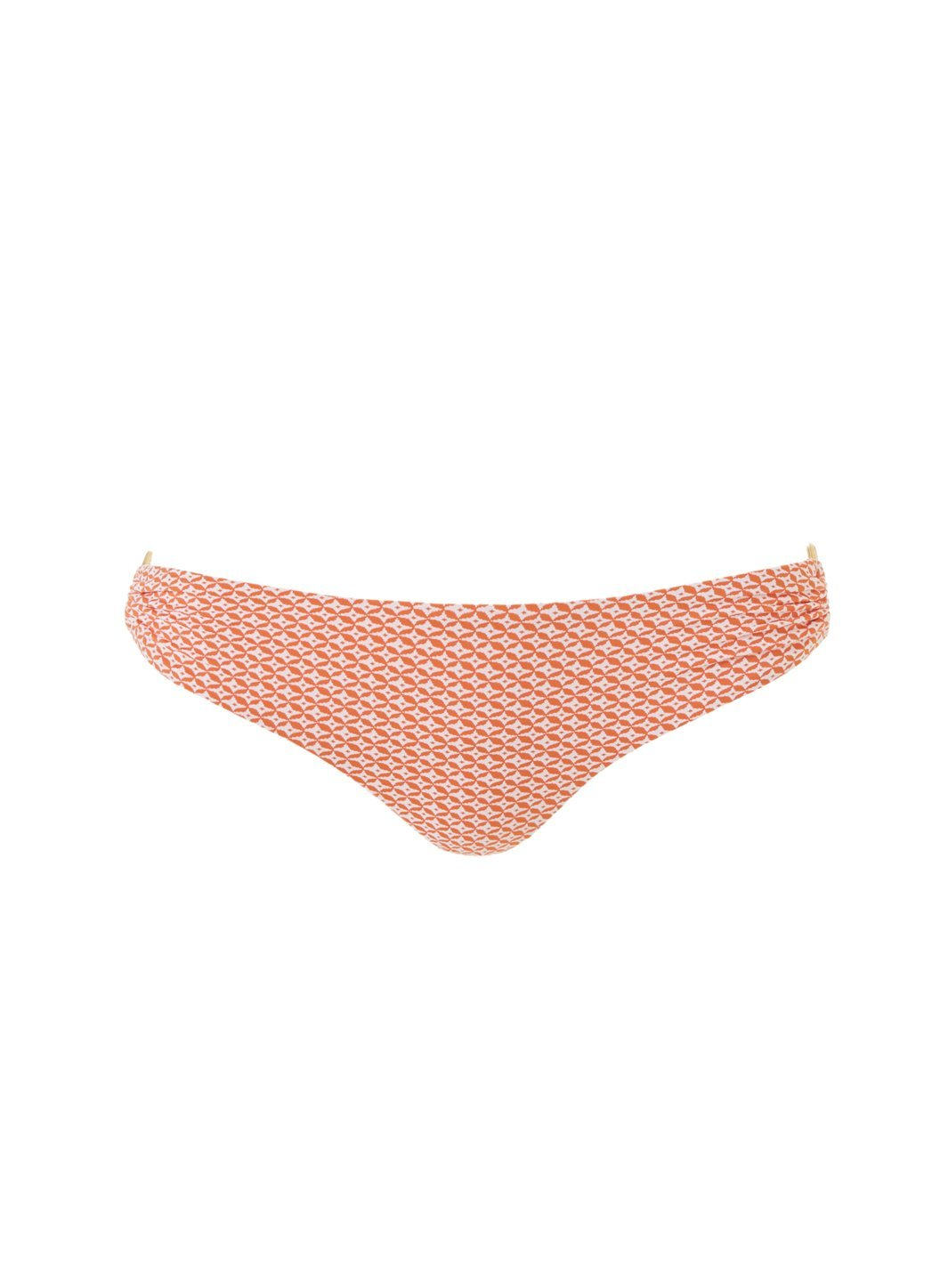 evita mosaic orange bikini bottom