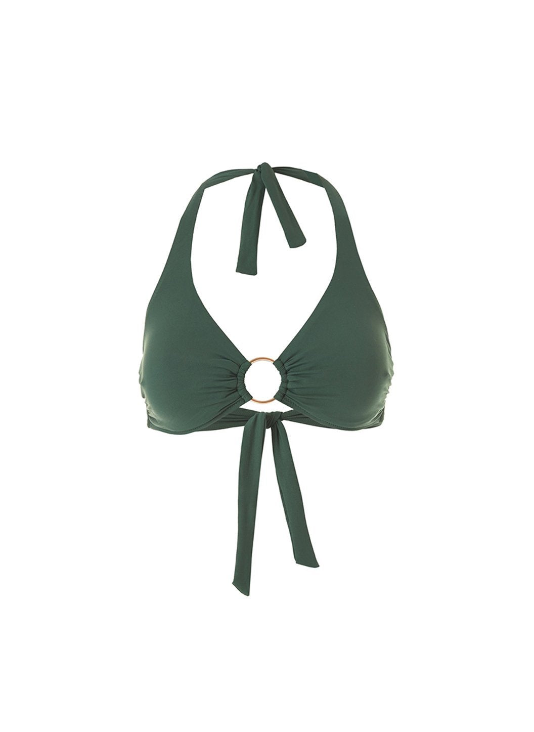 exclusive brussles fold over bikini top forest