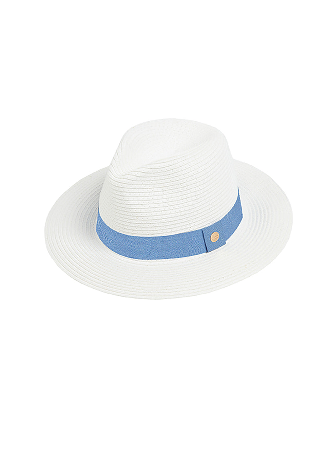 Fedora Hat White/Denim