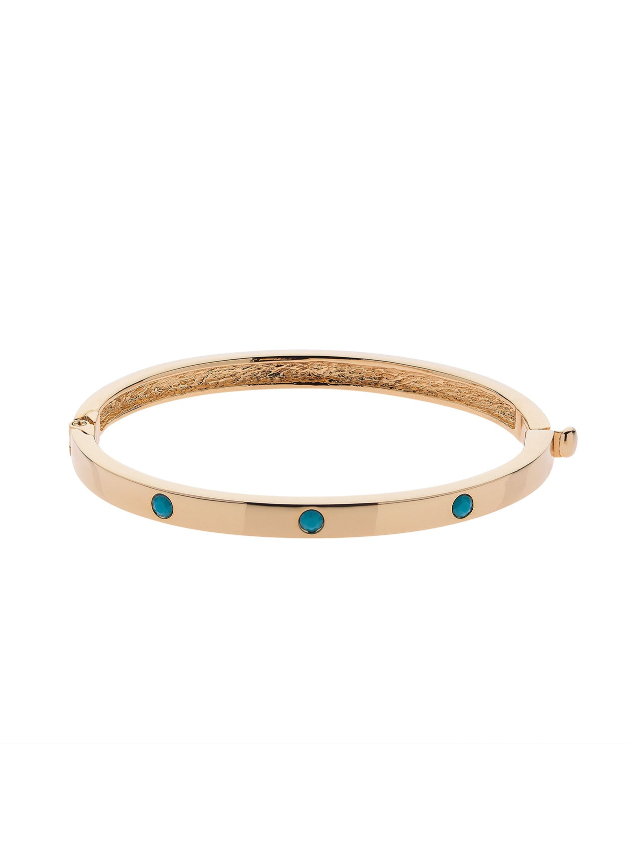 Gold Turquoise Bangle