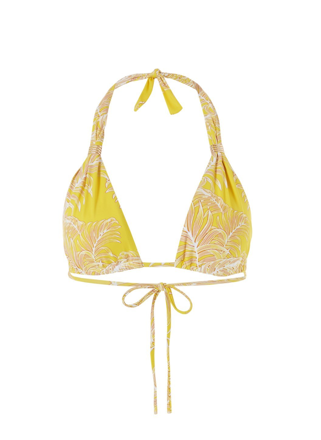 grenada tropical yellow bikini top