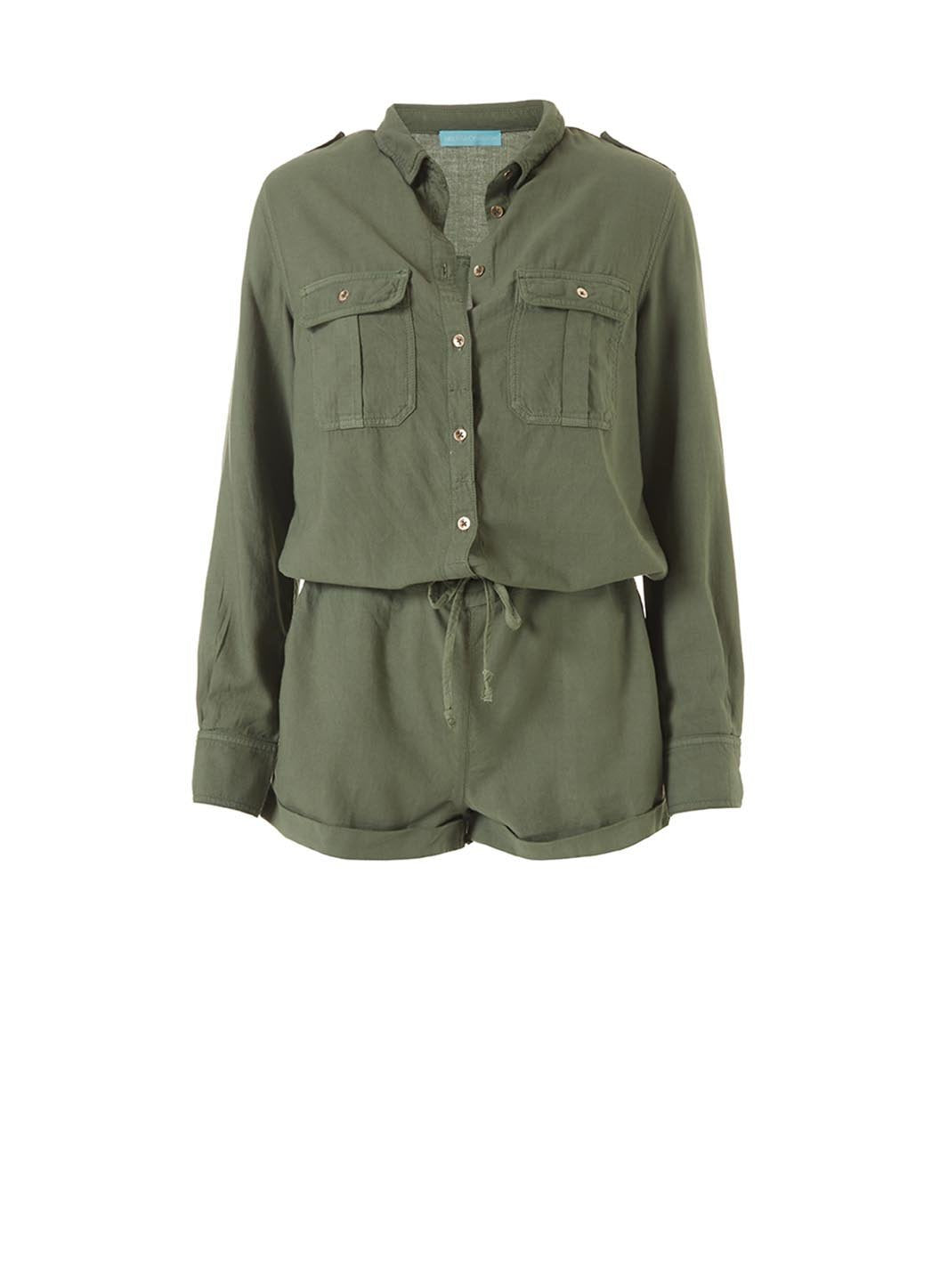 honour olive playsuit