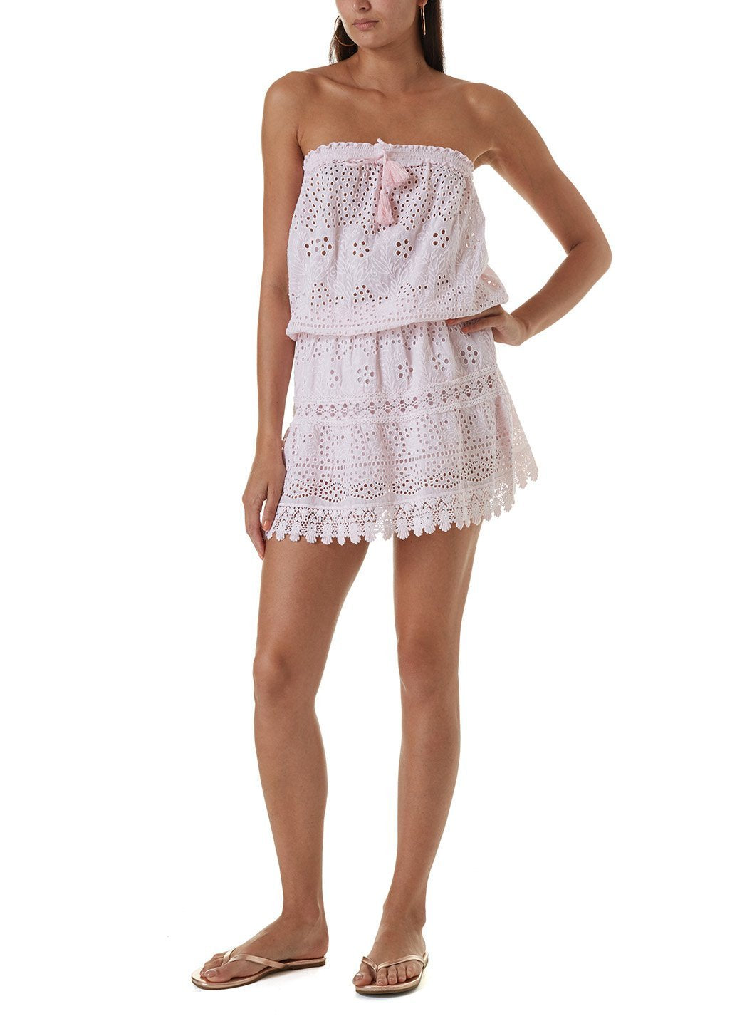 iris blush short dress