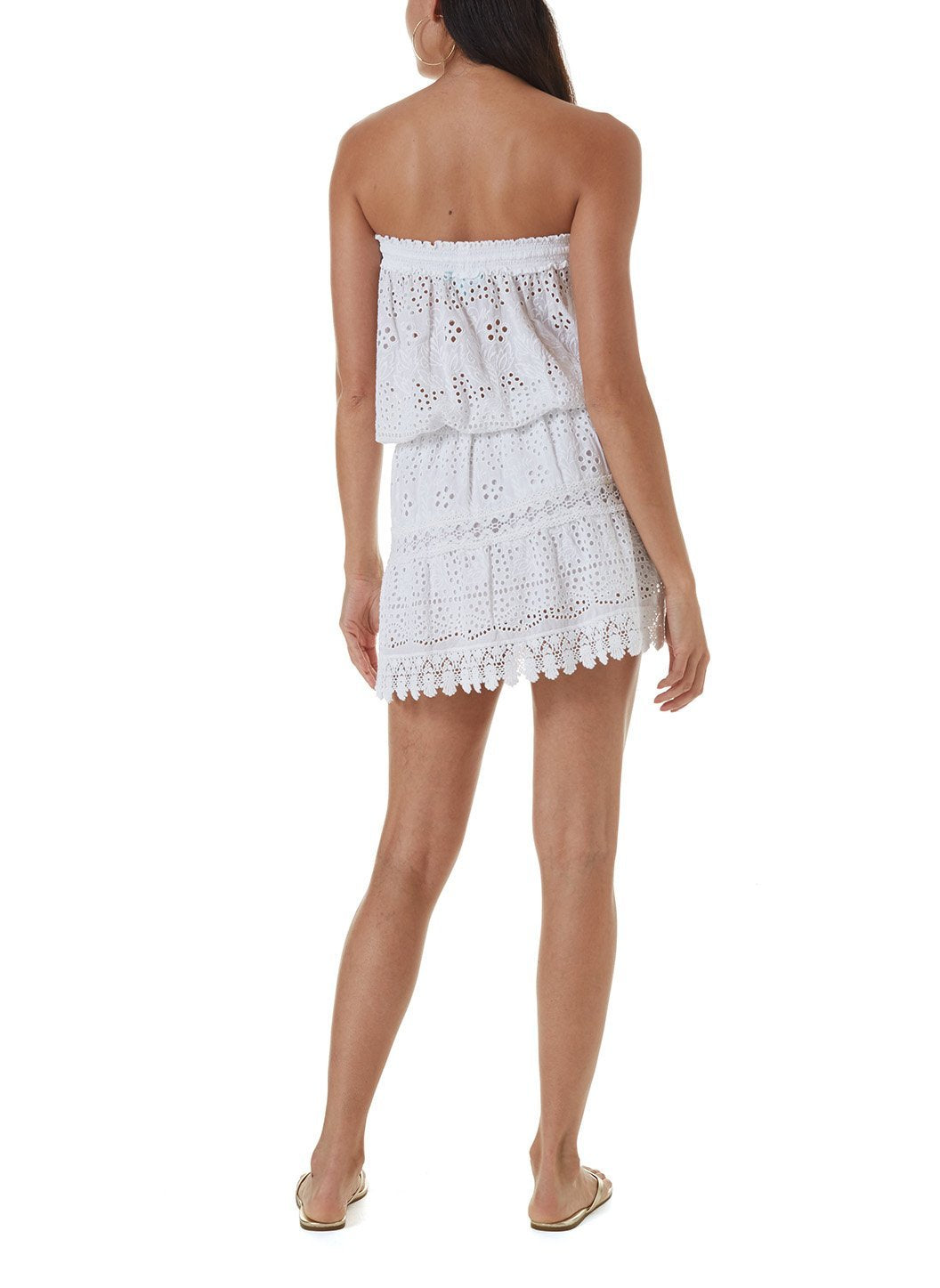 iris white short dress