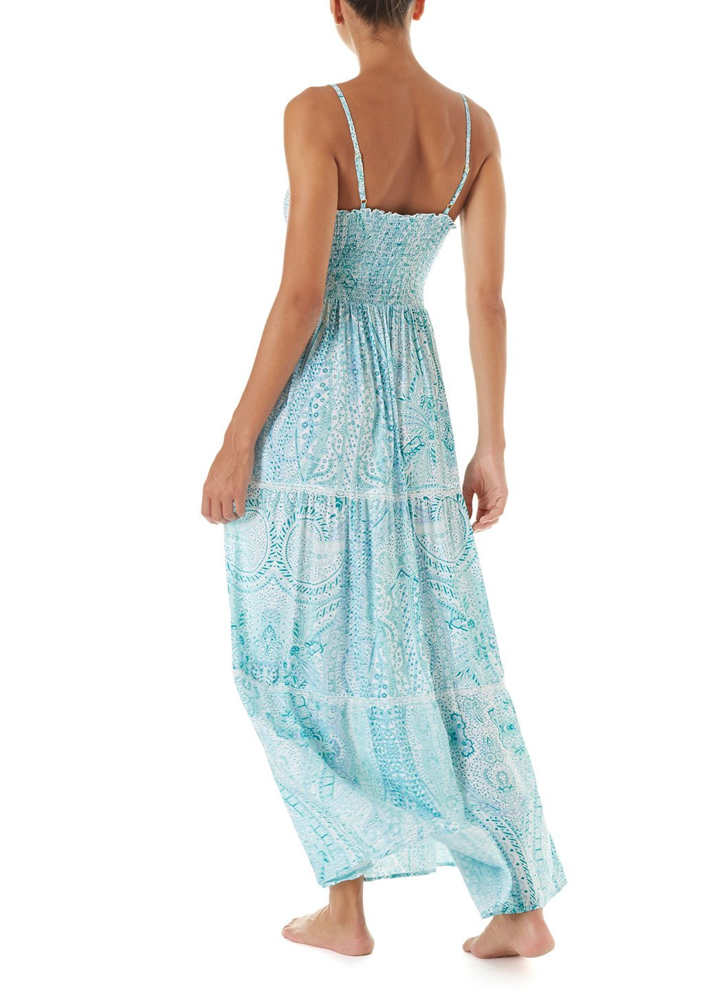 3f8fa5c3ad3ed3 Jamie Paisley Empireline Maxi Beach Dress