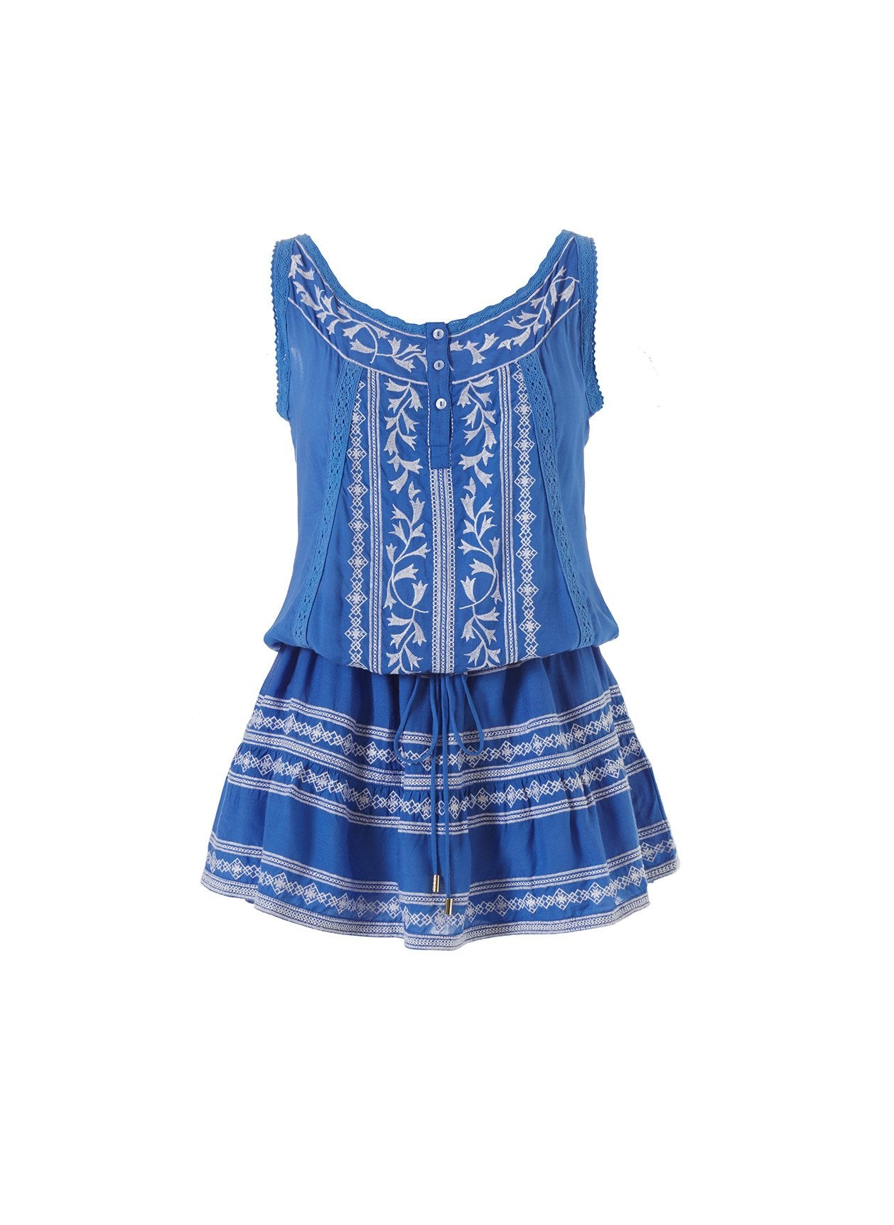 Jaz Royal Blue/White Short Dress