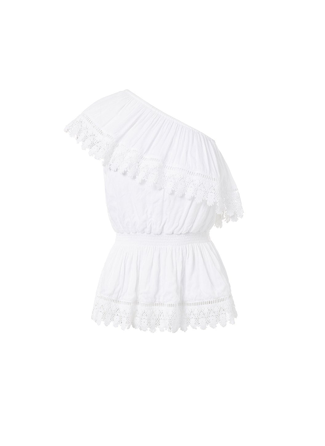 joanna white oneshoulder embroidered frill top 2019