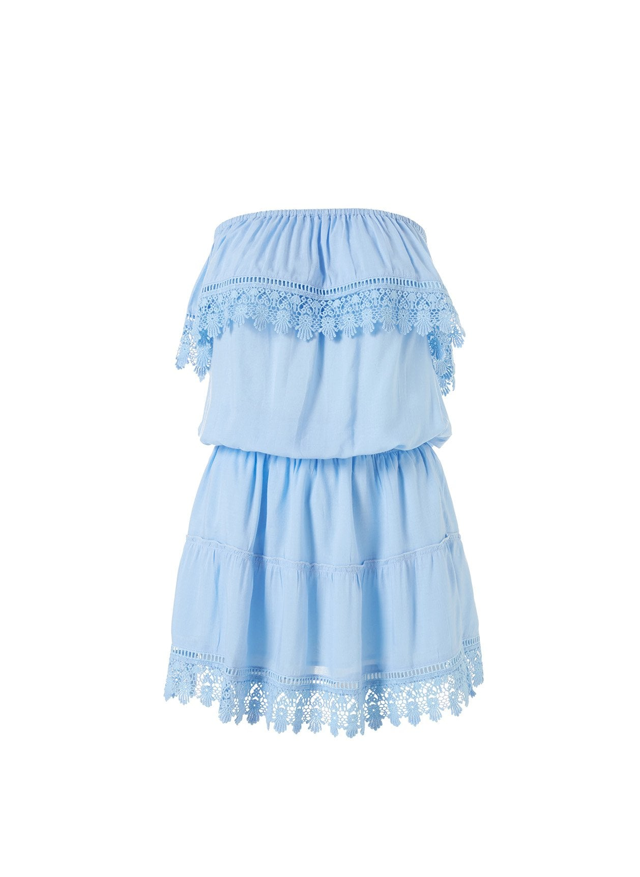 Joy Cornflower Frill Embroidered Bandeau Dress 2020
