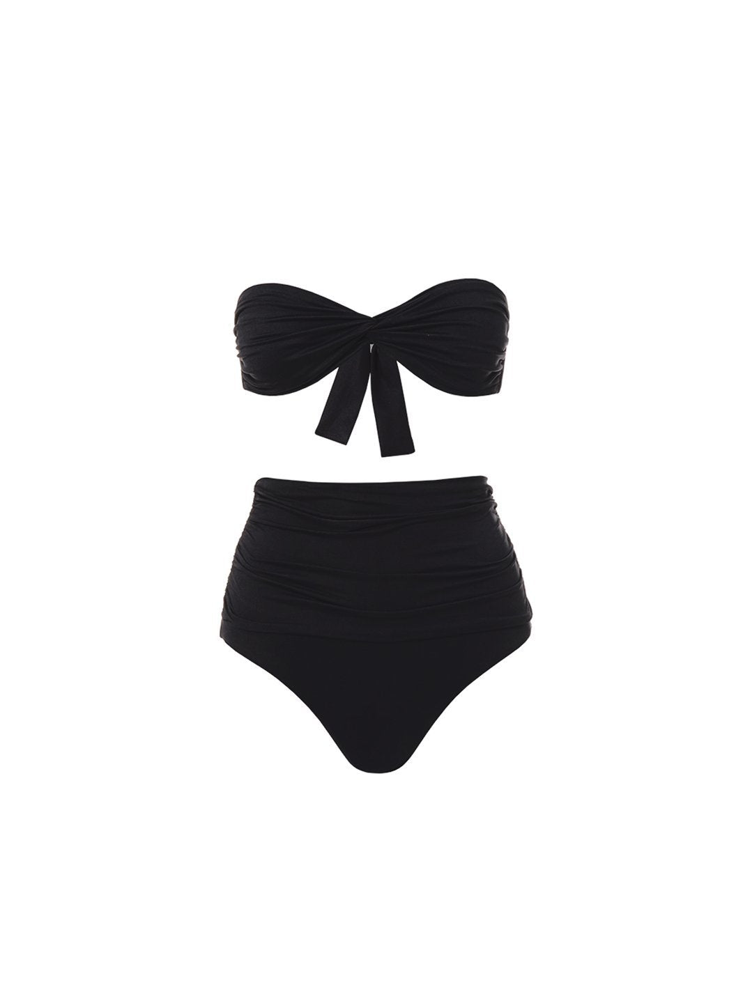 lyon black highwaisted bandeau bikini 2019
