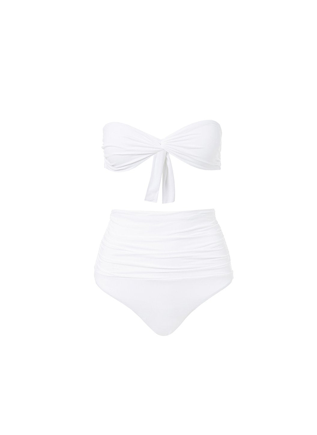 lyon white highwaisted bandeau bikini 2019