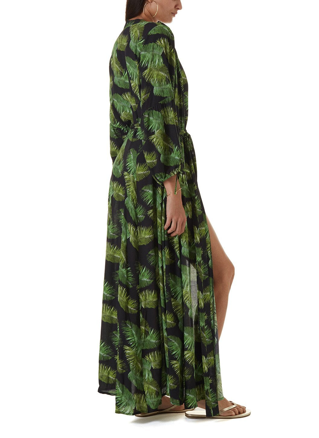 Margo Palm Black Long Dress