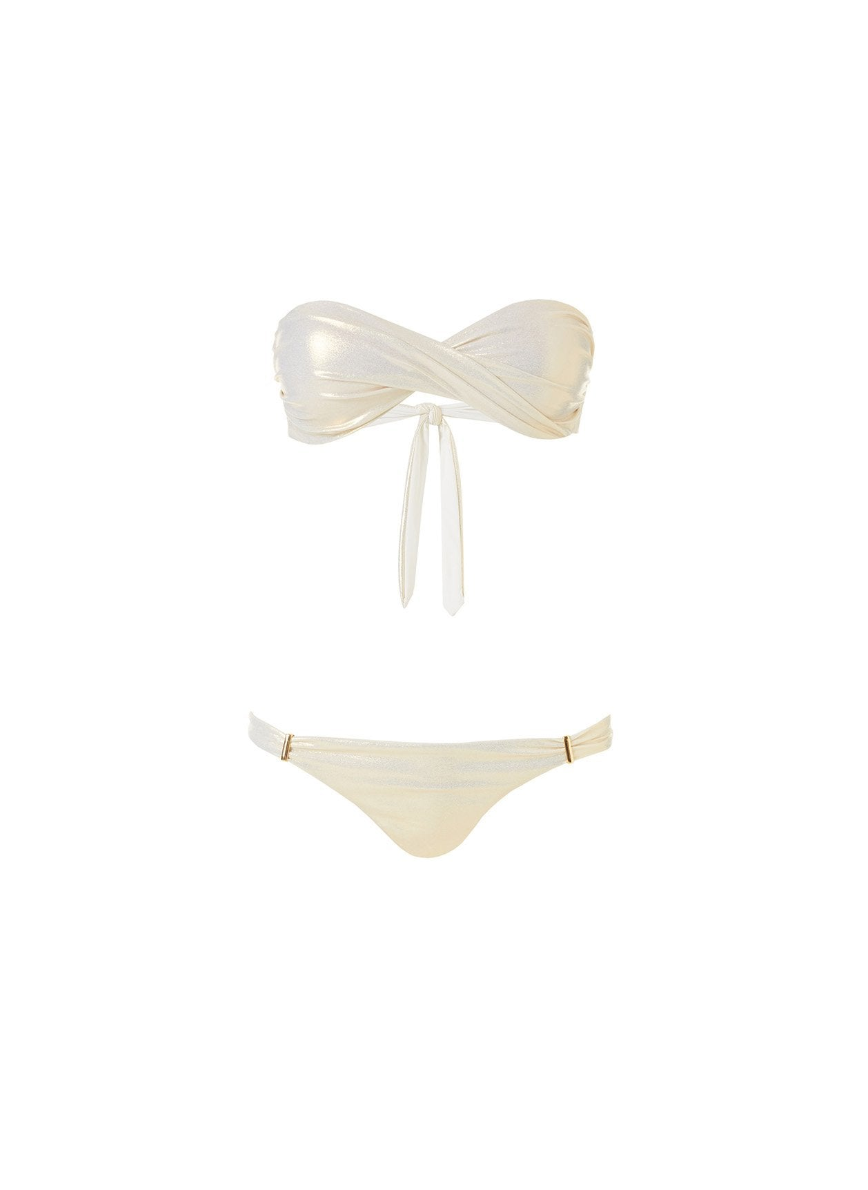 Martinique Gold Twist Front Bandeau Bikini 2020