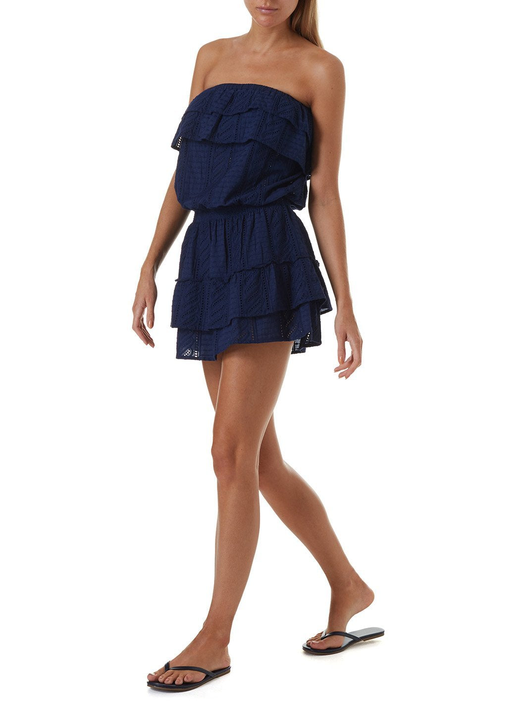 mia navy short dress