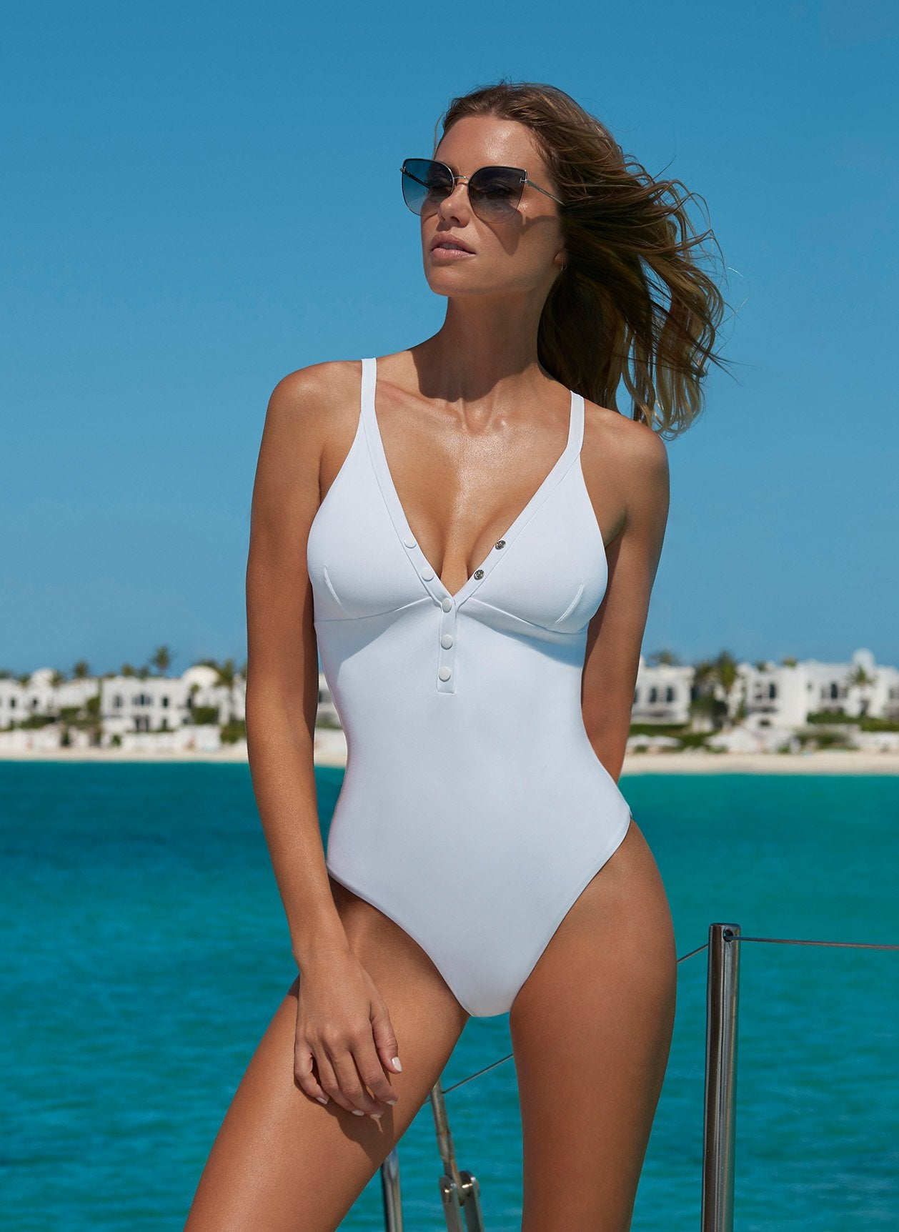 Nepal White Swimsuit