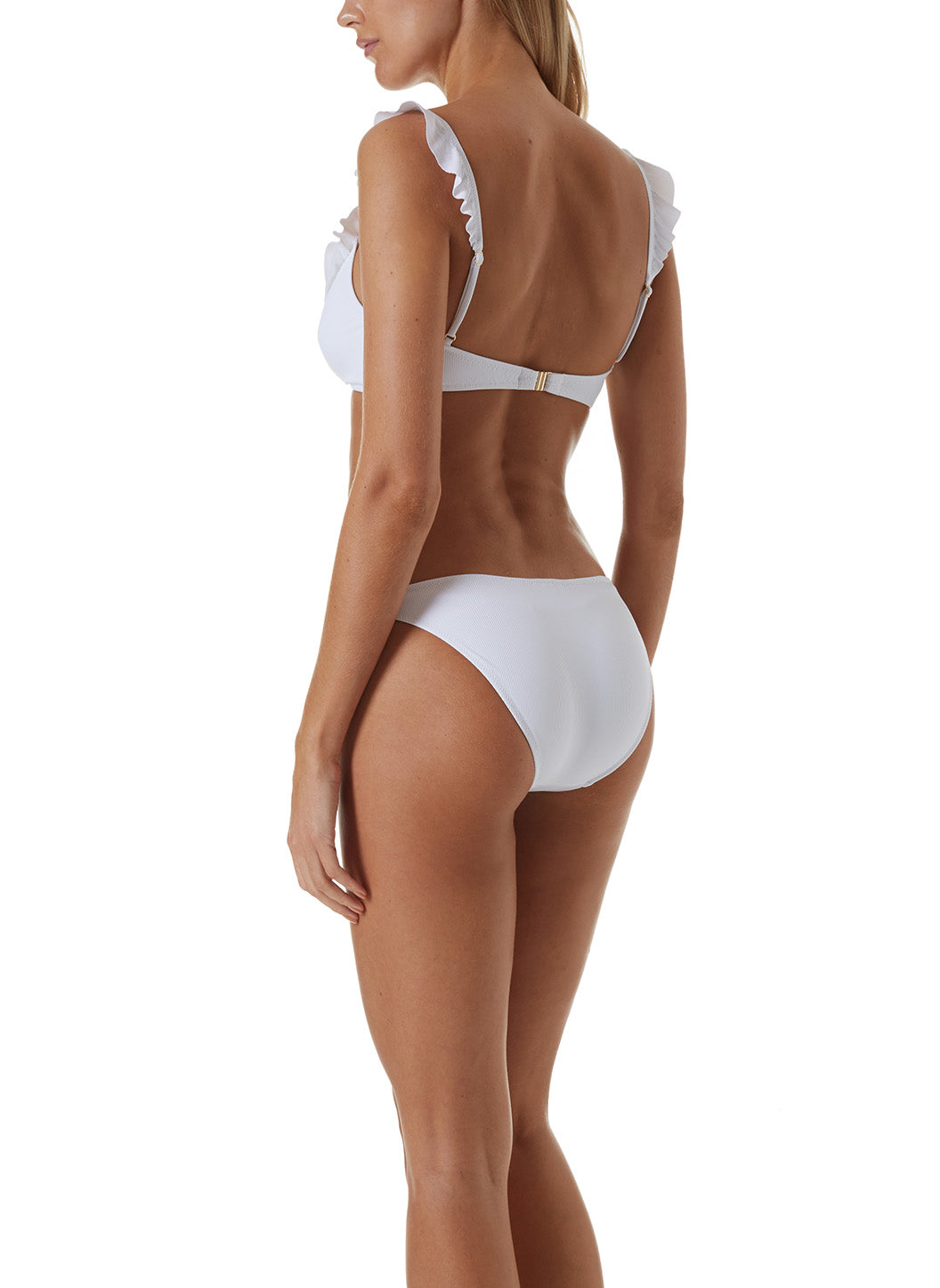 New York White Ribbed Bikini