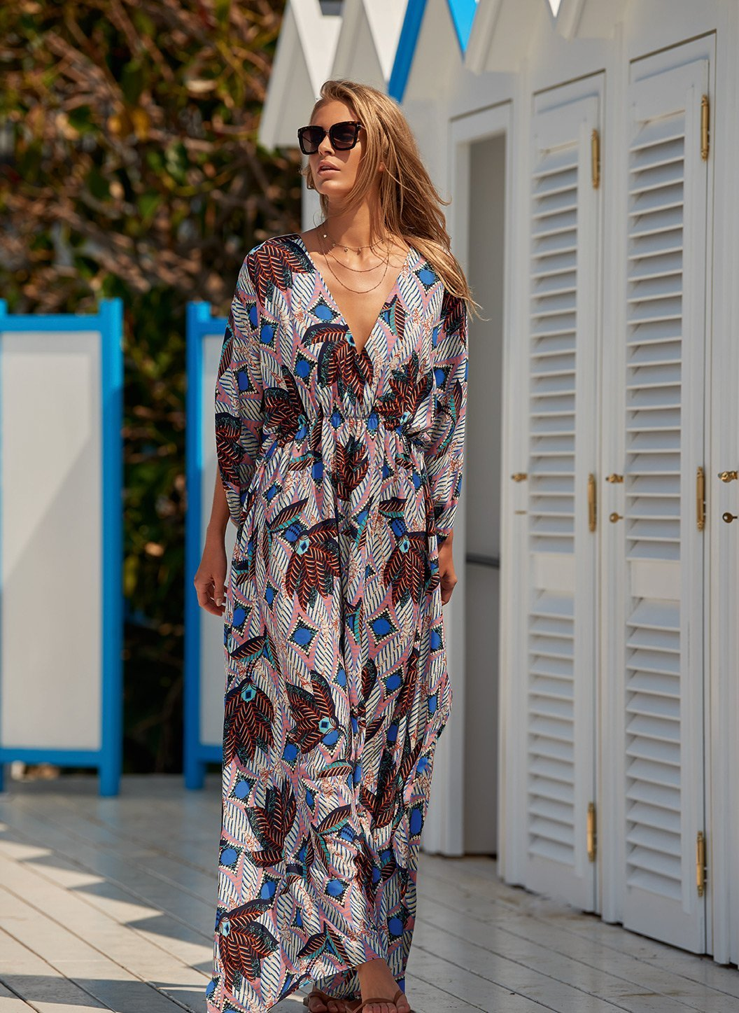 nicola boho vneck floor length dress lifestyle 2019