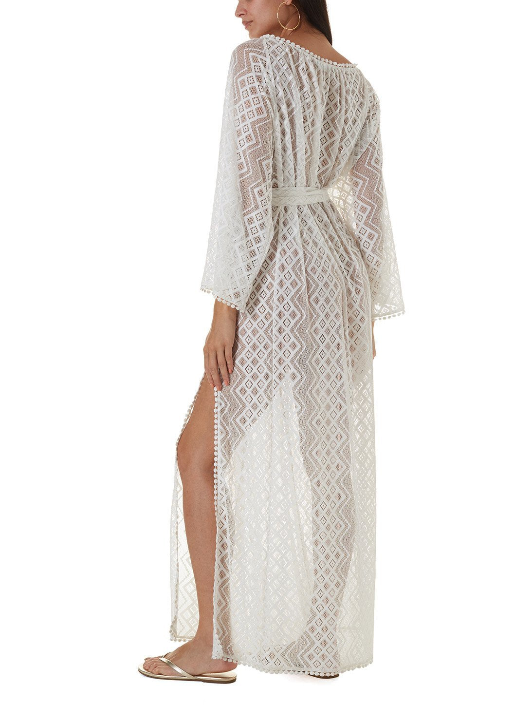 nina white long kaftan