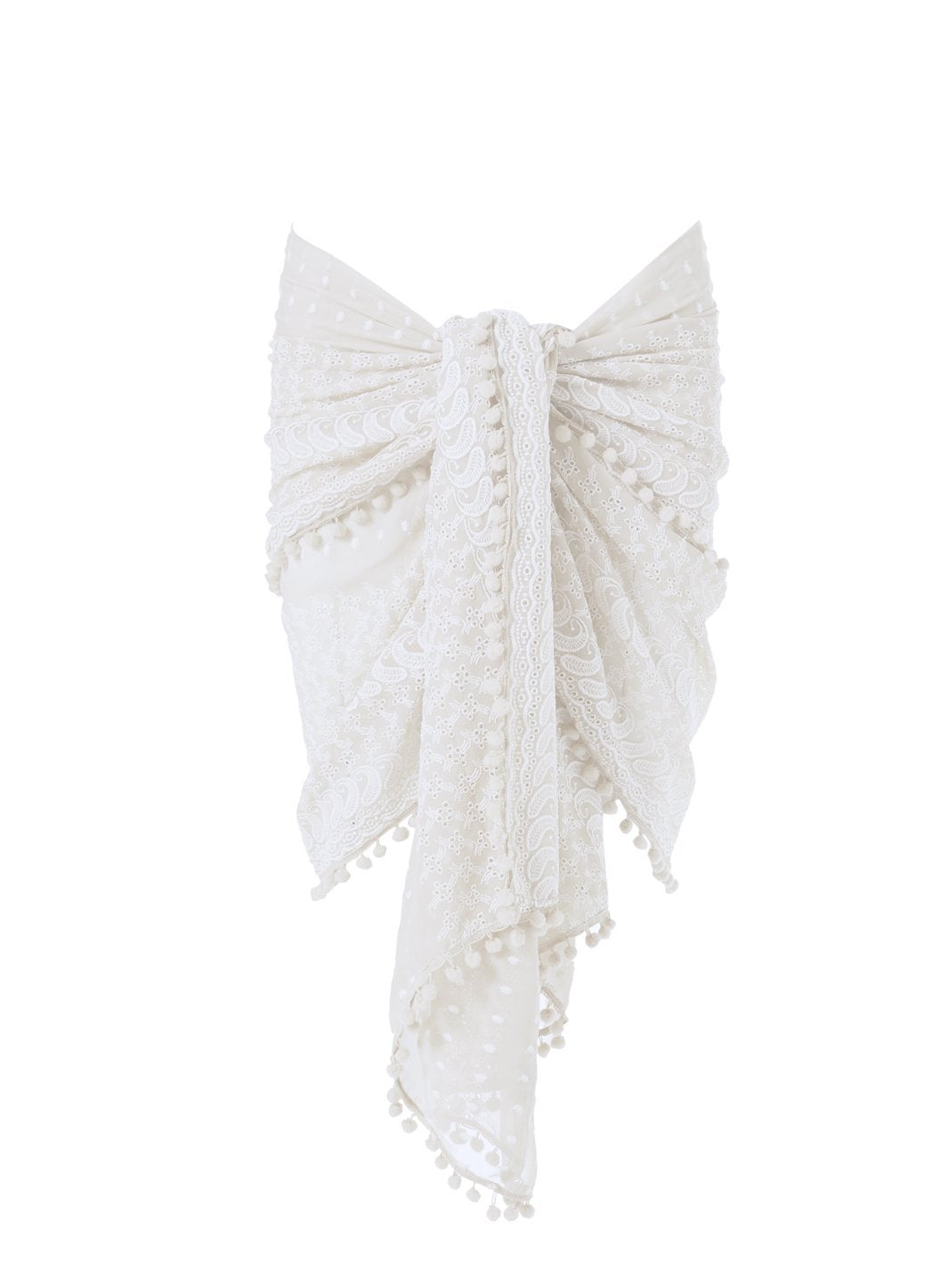 pareo embroidered white