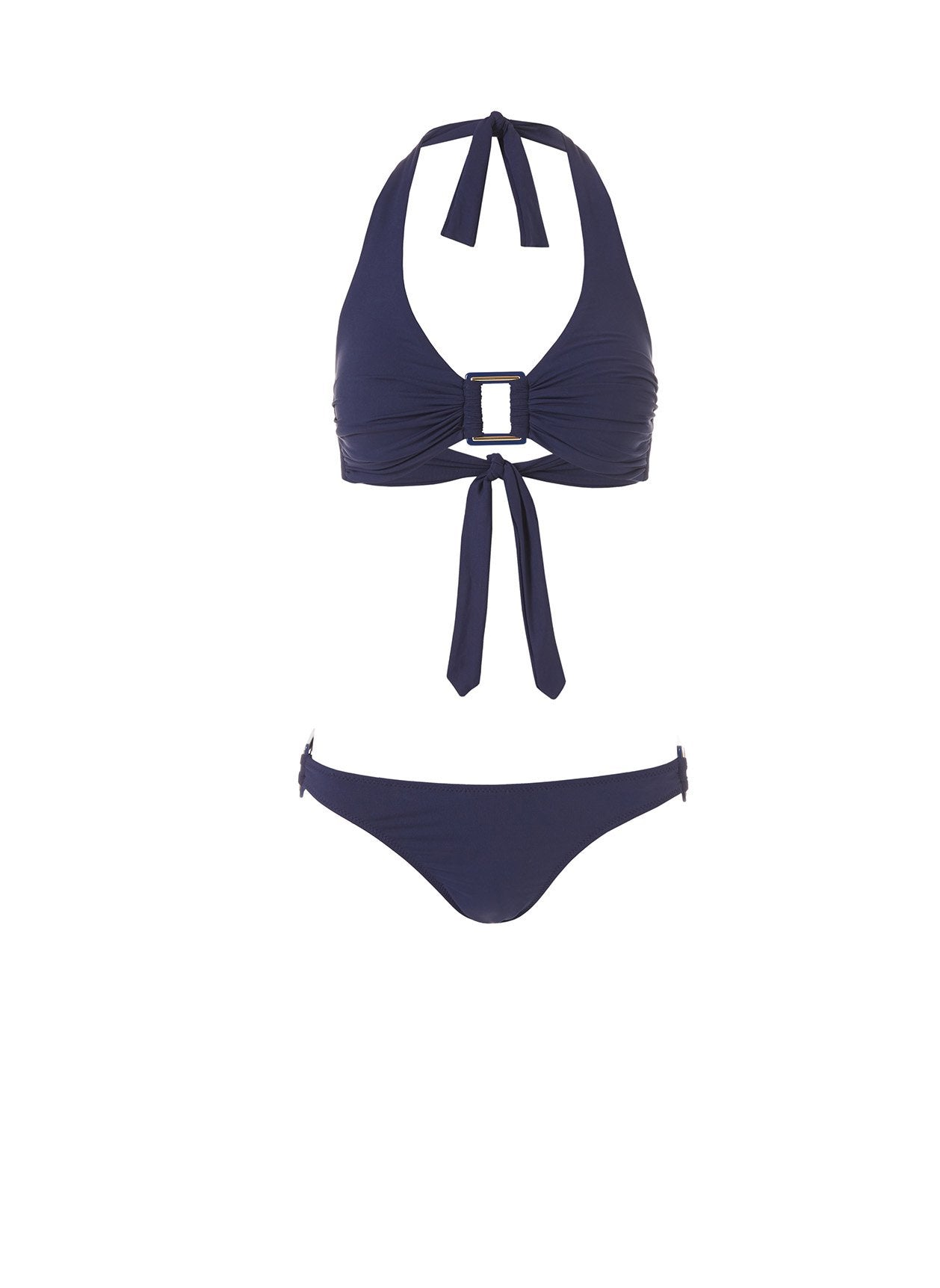 Paris Navy Rectangle Trim Halterneck Bikini Bikini 2020
