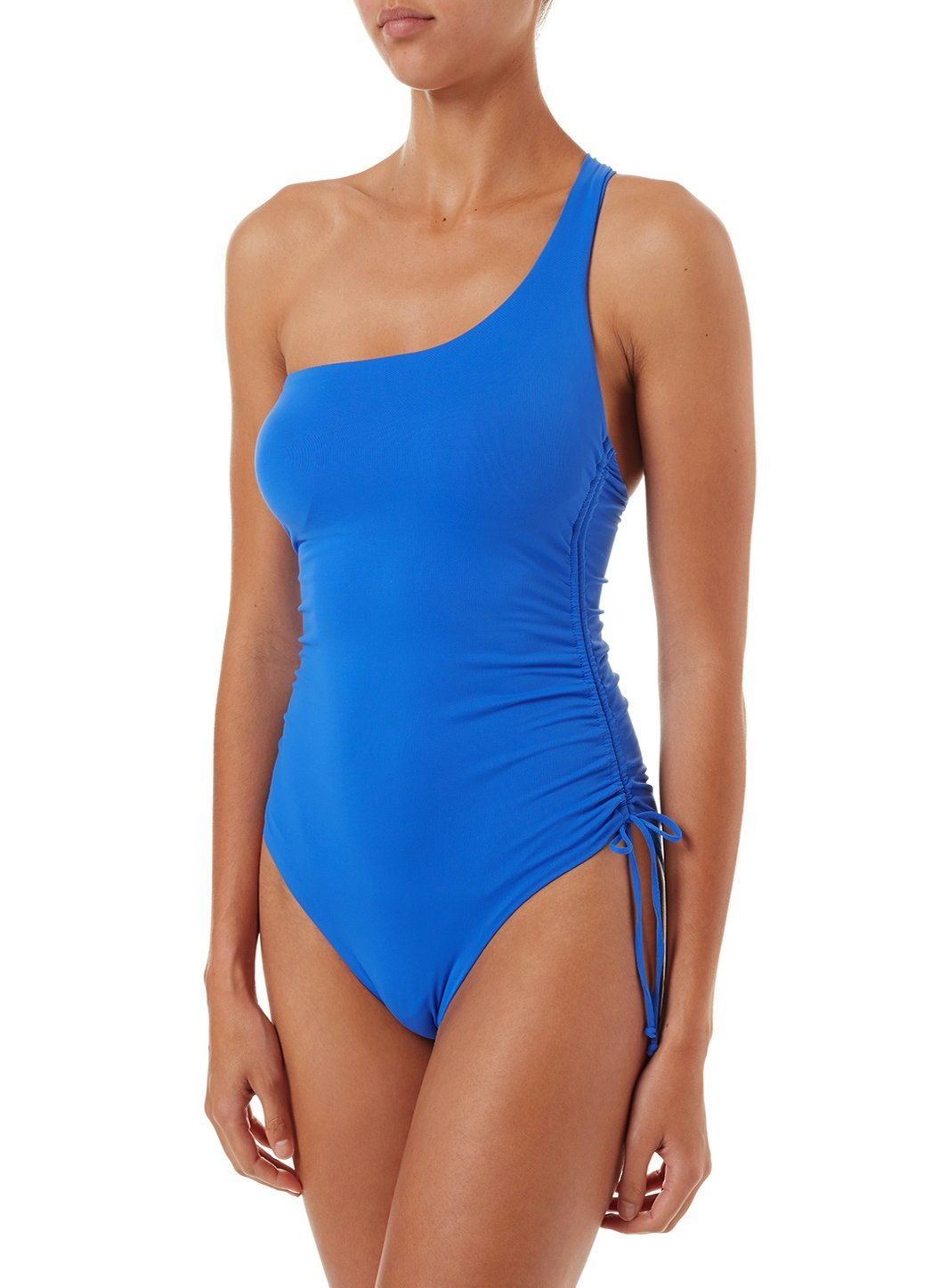 polynesia cobalt oneshoulder ruched onepiece swimsuit 2019 F