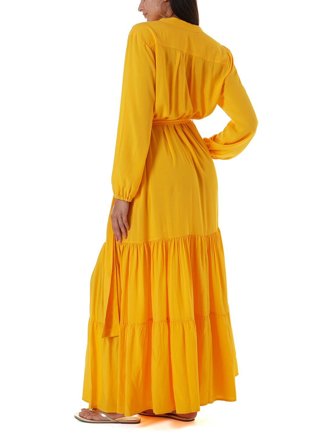sonja apricot long dress