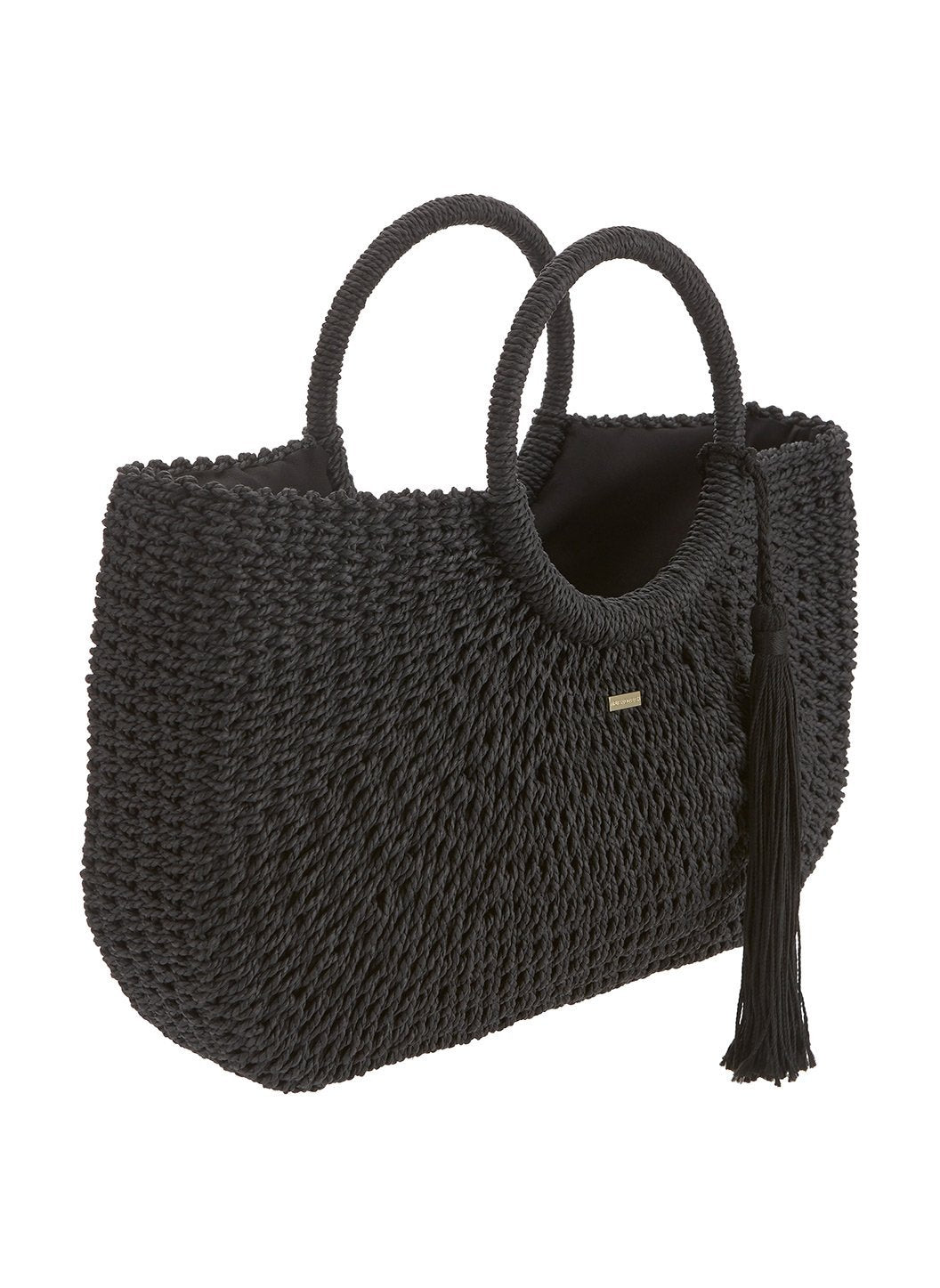 sorrento woven basket bag black 2019 2