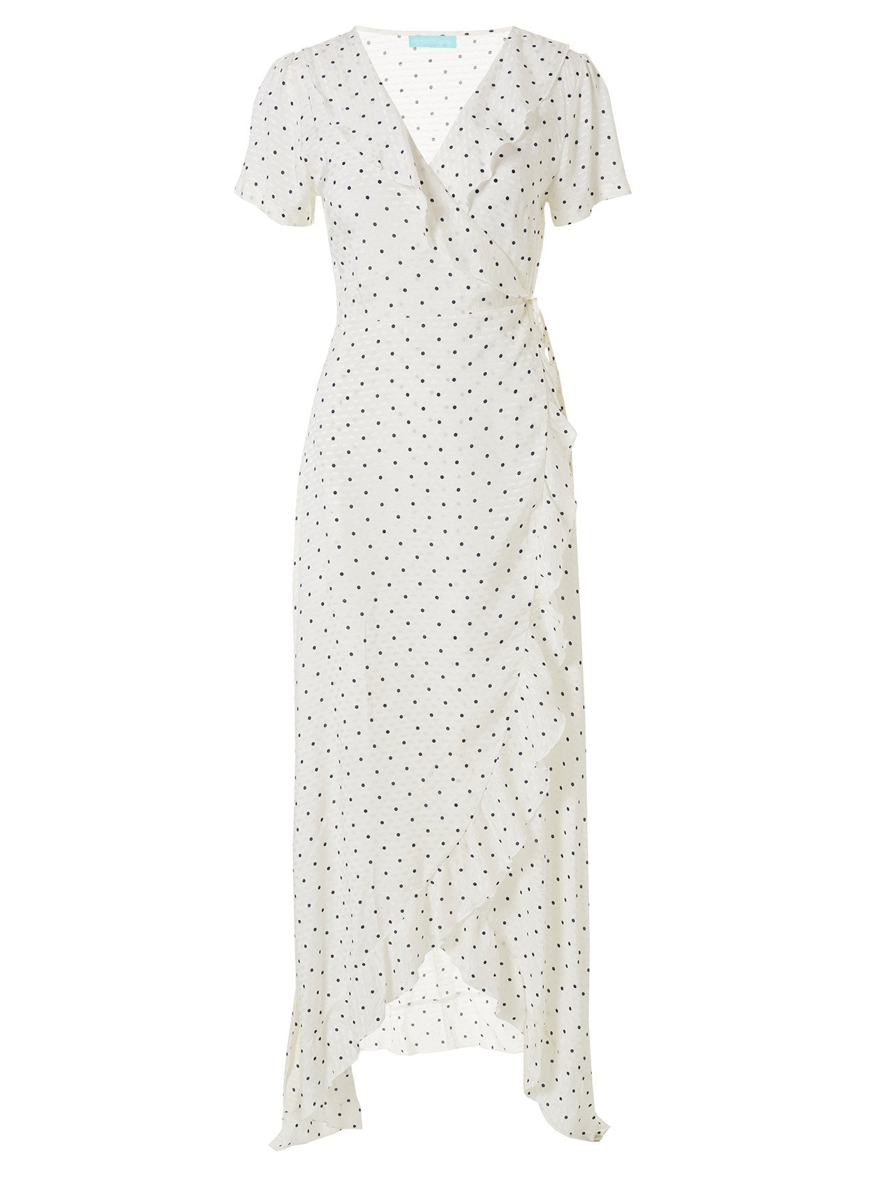 Tilly Polka Dot Cap Sleeve Maxi Wrap Dress 2020