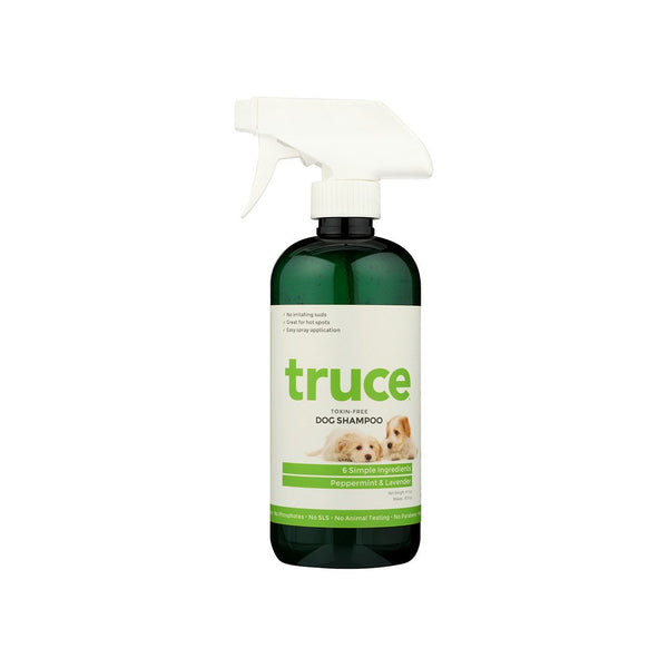 Truce Happy Dog Shampoo to softens coat for an itch-free clean