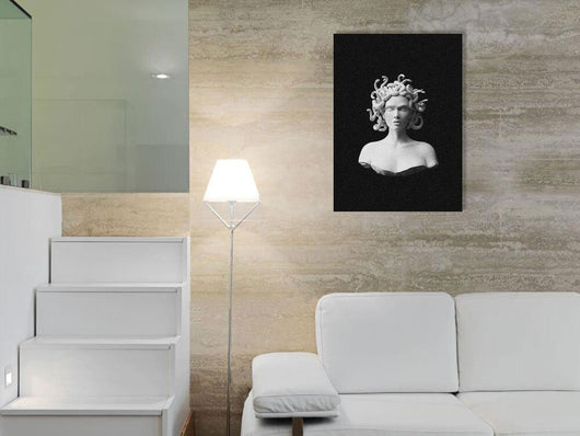Medusa Gorgon Plaster Statue Portrait Canvas for Home Living Room Bedroom Decor - Best Room Tapestry