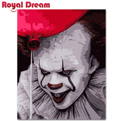 Horror Clown Abstract Painting For Home Wall Art - Best Room Tapestry