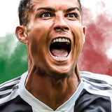 Cristiano Ronaldo Soccer Sports Wall Art Canvas For Playroom or Kids Room Decor - Best Room Tapestry