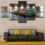 5 Panel Classic Old-Fashioned Car 911 Painting Modern Artwork Canvas HD Printed Poster for Living Room or Home Decor - Best Room Tapestry