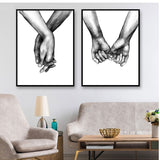 Black And White Lover Canvas For Living Room Decoration - Best Room Tapestry
