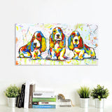 Cute Dog Puppy Wall Art Animal Canvas for Home Decor - Best Room Tapestry
