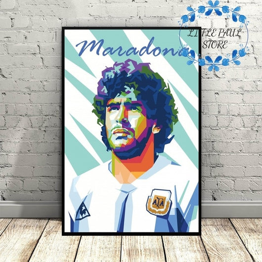 Maradona Art Canvas Sports Poster for Living Room - Best Room Tapestry