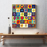 Iridescence Dot Inspection Canvas Art for Living Room Home Decor - Best Room Tapestry