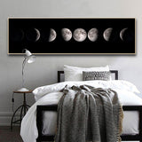 Moon Phase Canvas Poster Black White Art Print Decoration Abstract for Living Room - Best Room Tapestry