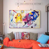Famous Kandinsky Modern Abstract Colourful Canvas For Home Decor and Living Room - Best Room Tapestry