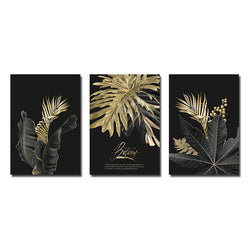 Abstract Golden Leaf Plant Wall Art Canvas for Room Decor - Best Room Tapestry
