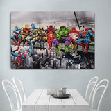 Superhero Avenger Flash Cartoon Canvas Art Poster for Home Decor - Best Room Tapestry