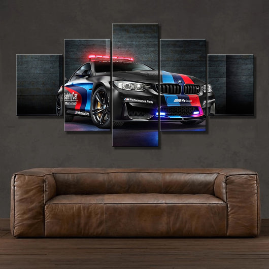 Wall Art Canvas Painting Frame For Living Room 5 Pieces BMW M4 Black Sport Car Pictures for Home Decoration - Best Room Tapestry