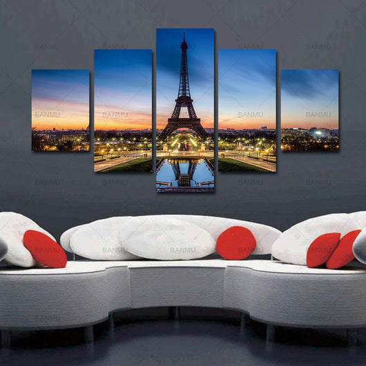 Paris Eiffel Tower Beautiful Canvas for Home Decoration - Best Room Tapestry