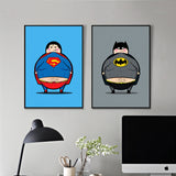 Super Hero Minions Superman and Batman Canvas for Kids Room Decor - Best Room Tapestry