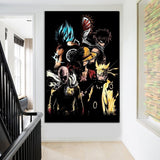 Goku Naruto Luffy Animation Cartoon Characters Canvas for Wall Art Living Room or Bedroom Home Decor - Best Room Tapestry