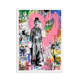 Charlie Chaplin Street Wall Art Canvas For Kids Room Decor - Best Room Tapestry