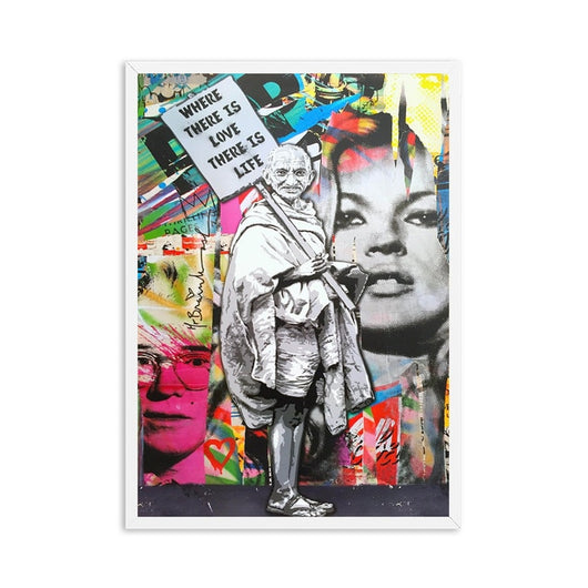 Gandhi Street Wall Art Canvas For Kids Room Decor - Best Room Tapestry