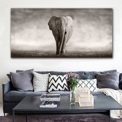 Black And White Elephant Modern Canvas Painting for Wall Art or Living Room Decoration - Best Room Tapestry
