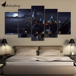 5 Piece Harry Potter Castle Canvas Art Poster for Room Decoration - Best Room Tapestry