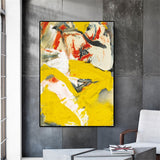 Colourful Modern Abstract Canvas Painting for Living Room Dining Room Bedroom Decoration - Best Room Tapestry