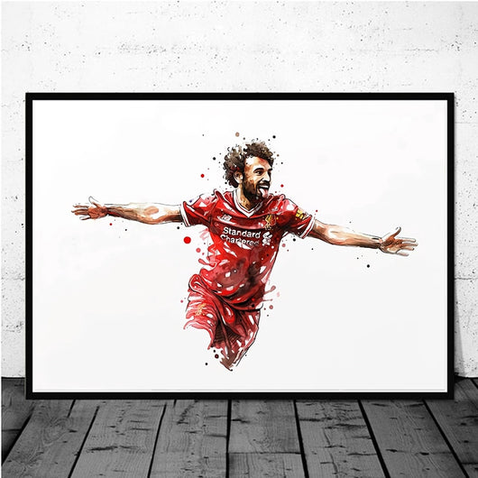 Mohamed Salah Liverpool Football Star Wall Art for Home Decor or Wall Decor Canvas - Best Room Tapestry